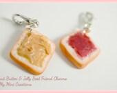 Peanut Butter & Jelly Best Friend Charms, Miniature Food, Miniature Food Jewelry, Food Jewelry