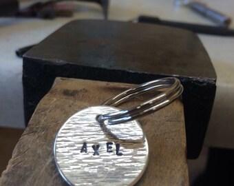Silver dog tag