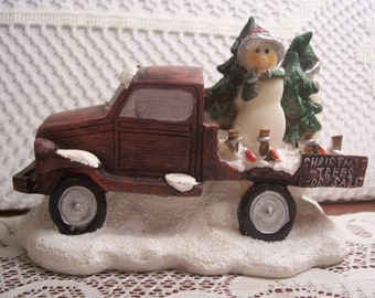 Christmas Village Pick-Up Truck