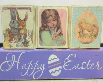 Easter Decor-Happy Easter Wood Block Set