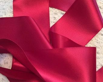 Wine Satin Ribbon/Satin Ribbon Sash/Wine Wedding Belt/Red Bridal Sash/Gothic Wedding Sash/Red Satin Ribbon/Wine Bridal Sash/Wine Ribbon