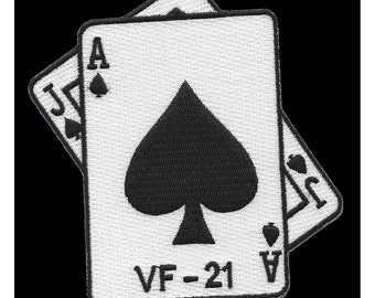 VF-21 Fighter Squadron Velcro Patch