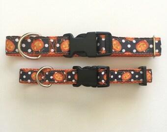 Pumpkin Dog Collar - Halloween- Jack O' Lantern