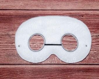 Felt White Hero Mask for Childrens Pretend Play Birthday Party Dress Up Fancy Dress