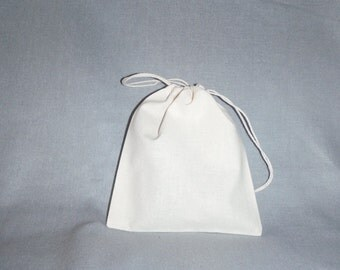 30 pcs Custom Drawstring Bags, Pure Natural Pouch, Muslin Wrapping Bags, 7 x 8 inch
