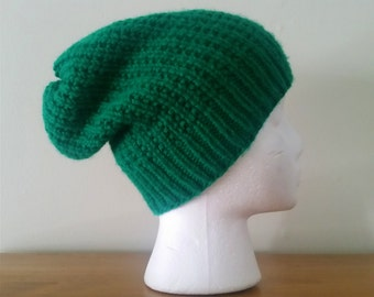 Slouchy Green Hat