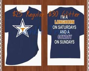 Custom Longhorns & Cowboys Shirt