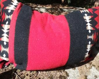 Pendleton (R) Set of 2 Large Red & Black Pillows