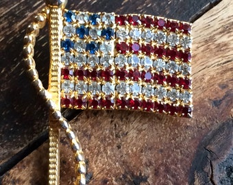 Pin Sparkly American Flag