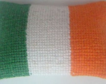 Hand Stitched Dolls House Cushions Irish Flag   1/24th Scale