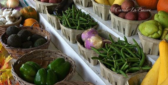 FRESH VEGETABLES at a Farmer's Market ~ Food photography ~ Louisiana Travel Photograph ~ Kitchen Wall Art ~ Roadside Market ~ 12x18 format