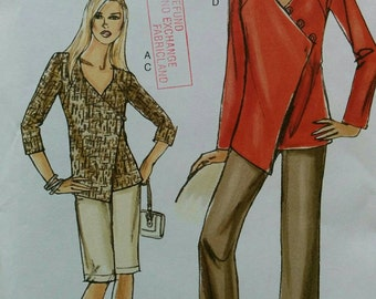 Size 8-10-12-14 Tunic, Shorts and Pants Pattern