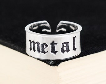 Metal Ring - Death Metal - Metalhead - Aluminum Cuff