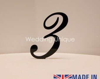Cake Topper number acrylic various colours available