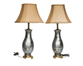 Beautiful Aluminum Table Lamps pair