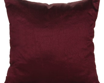 Set of 2 Solid Plum Pillow Covers and Sham Covers Plum Accent Pillow Plum Throws 14x14 16x16 18x18 20x20 22x22 24x24 26x26