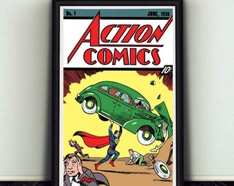 11x17 Action Comics #1 Starring Superman Poster Print