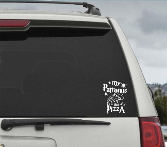 My Patronus is a Piece of Pizza Harry Potter Car Decal Window Sticker