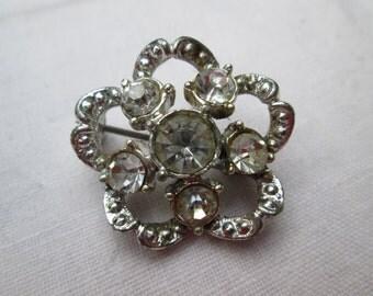 1950's Paste Floral Brooch