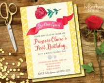 be our guest printable invitation beauty and the beast belle inspired