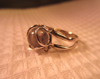 Whimsical Sterling Silver Crystal Ball Ring - 4