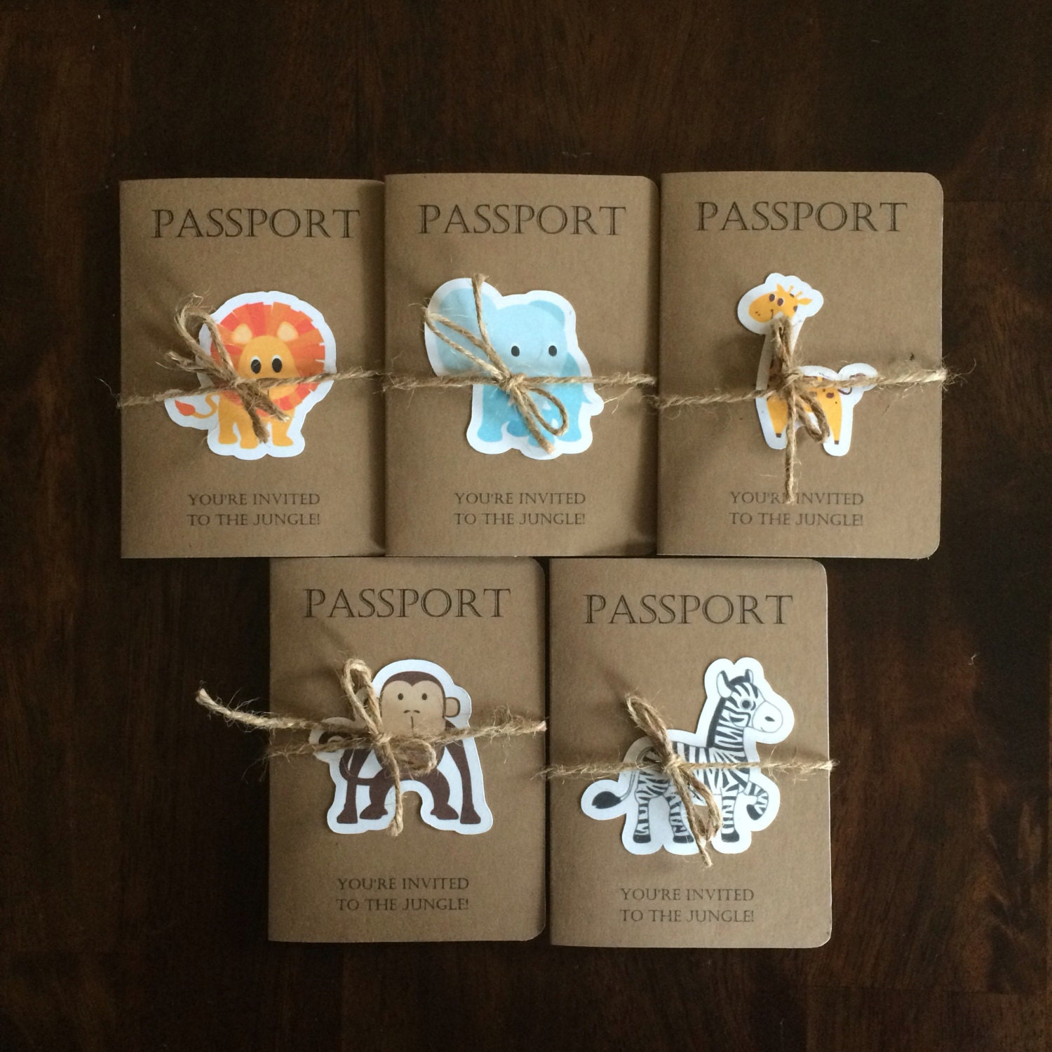 Safari Passport Invitation Safari Kids By KarlaBrownDesigns