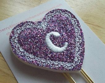 Lacy Heart Initial Paper Clip