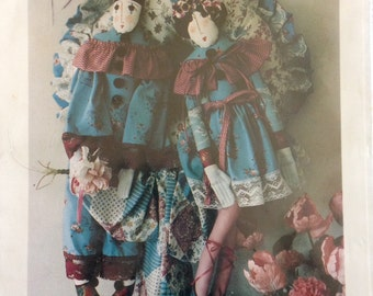 Pierrot and Pierrette by Little Old Lady Originals - Elinor Peace Bailey