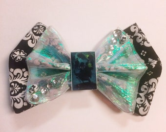 Hatbox Ghost - Haunted Mansion Fabric Bow