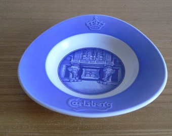 Pretty Carlsberg Pin Tray/Ashtray Made by Royal Copenhagen Pottery.