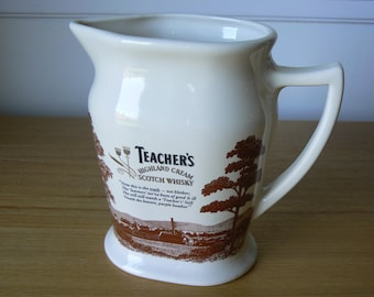 Highly Collectible Teacher's Highland Cream Scotch Whisky Water Jug by Seton Pottery.