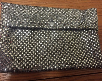 SALE Small sequin wet bag