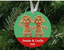 BLACK FRIDAY SALE Personalized Gingerbread Women Couple Ornament Keepsake - Custom Made to Order