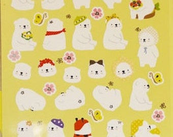 NEW Funny Winter Bear Sticker - Cute Winter Bear stickers