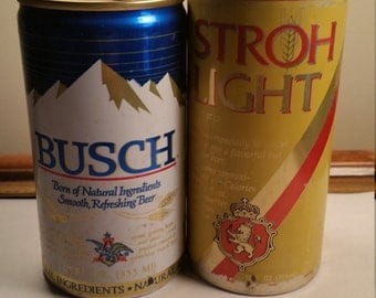 Lot of 2 Vintage Beer Cans