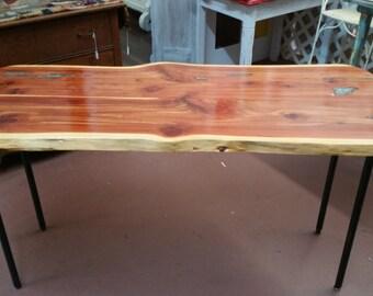 Rustic Distressed Cedar Top Farmhouse Table