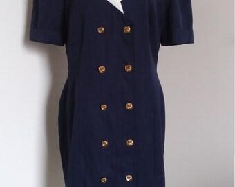 80s marina dress marine nautical sailor 40s inspired