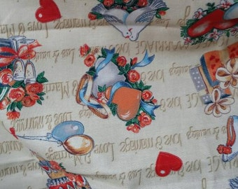 Vintage quilting fabric love marriage