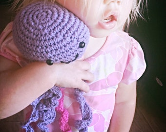 Stuffed jelly fish, cotton jellyfish, amigurumi, toy