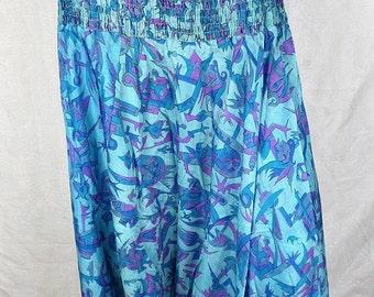 HAREM pants blue dress, pants harem, Indian harem, hippie boho chic dress shorts sar103 meditation place