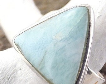 RING LARIMAR MONEY, jewelry, natural stone, stone of inner peace and communication T59/60 Us 9/9.5 v32.1