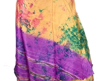 SKIRT HIPPIE Gypsy large size tribal silk Holly hippie boho 36/46 wj1 bobo