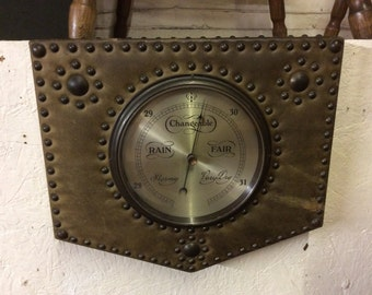c1930s acme leather barometer wall mounted barometer