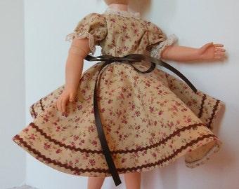 "Fall Print Dress Set for 18"" Horsman Cindy Fashion Dolls"