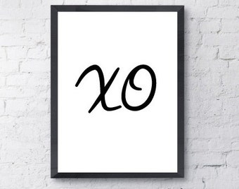 Poster Print. xo, Love, Art, Motivational, Funny, Inspirational, Quote.  All Prints BUY 2 GET 1 FREE!