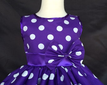 NEW Vintage Polka Dot Pin Up Elegant Summer Spring Easter Toddler Girl Recital Fun Dress S M L XL 2 4 6 8 10 12