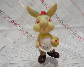 Vintage Easter bunny squeaky toys