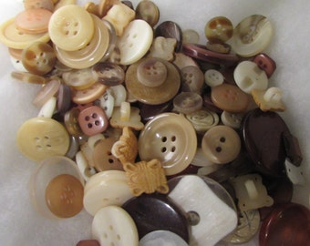 Brown and Fawn Buttons