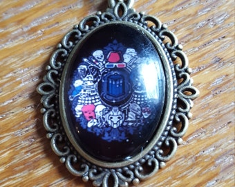 Doctor Who Collage Necklace