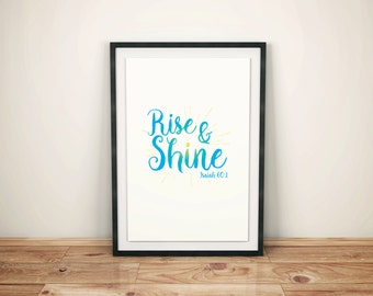 Rise and Shine Bible Verse Print Download